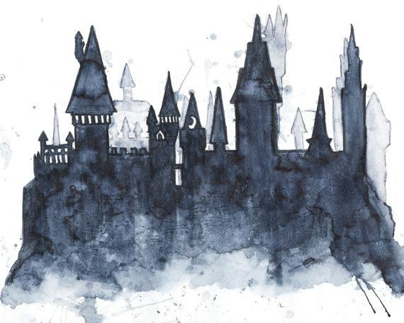 Hogwarts school of witchcraft and wizardry clipart vector royalty free hogwarts castle silhouette clipart Castle Harry Potter ... vector royalty free