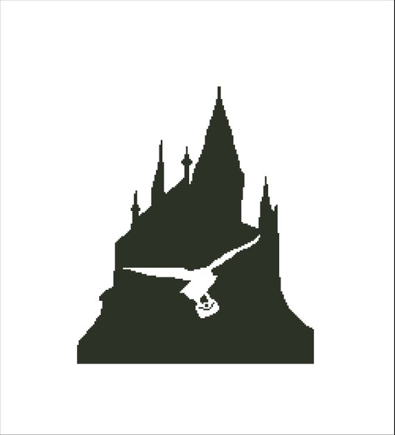 Hogwarts castle clipart clip transparent library INSPIRED by Harry Potter cross stitch pattern-Hogwarts ... clip transparent library