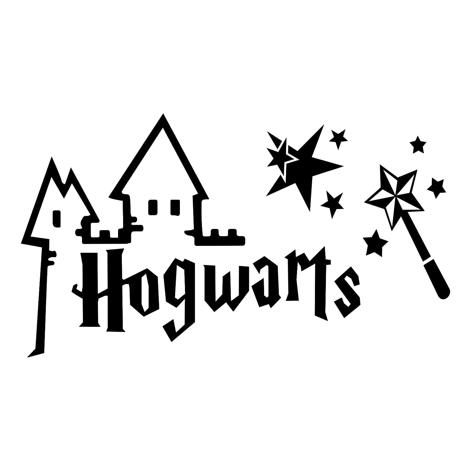 Hogwarts school of witchcraft and wizardry font clipart image stock Harry Potter and the Deathly Hallows Hogwarts School of ... image stock