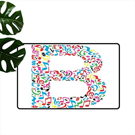 Hold the door job at school clipart clipart royalty free download Amazon.com : Letter B,Door mat Colorful Silhouette of B ... clipart royalty free download