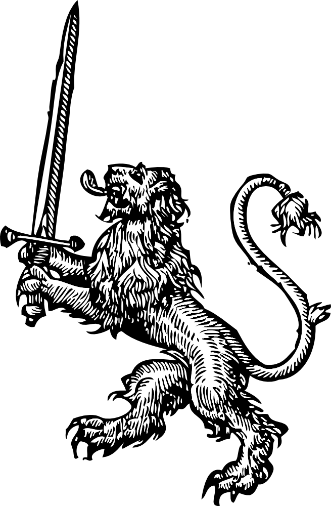 Holding a book clipart clip art free OnlineLabels Clip Art - Lion With Sword clip art free