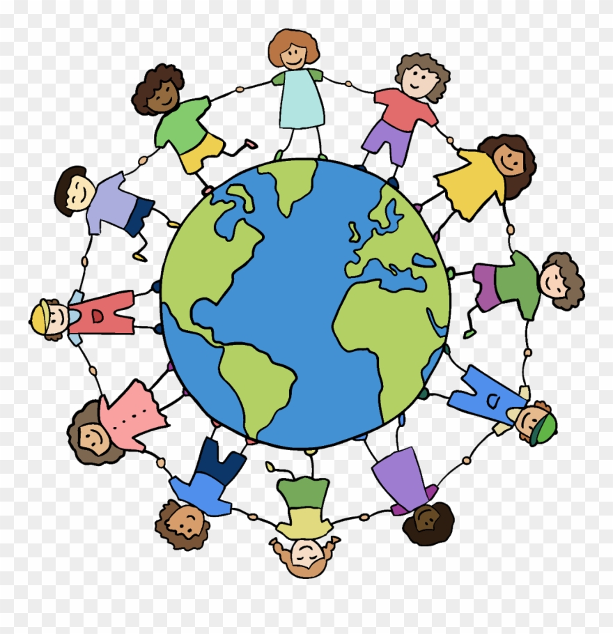 Kids holding hands around the world clipart banner transparent Clipart World Holding Hand Around World - Friends Holding ... banner transparent