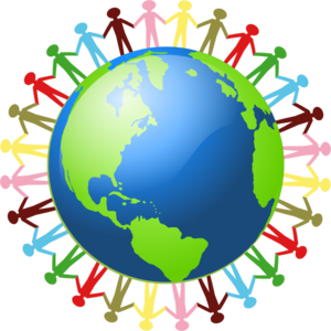Holding hands around the world clipart vector black and white stock People Holding Hands Around The World Clip Art at Clker.com ... vector black and white stock