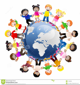 Kids holding hands around the world clipart vector freeuse download Free Clipart Of Children Holding Hands Around The World ... vector freeuse download