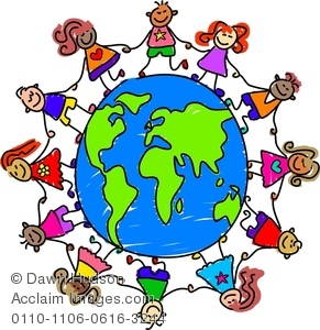 Holding hands around the world clipart clip A Group Of Happy And Diverse Kids Holding Hands Around The ... clip