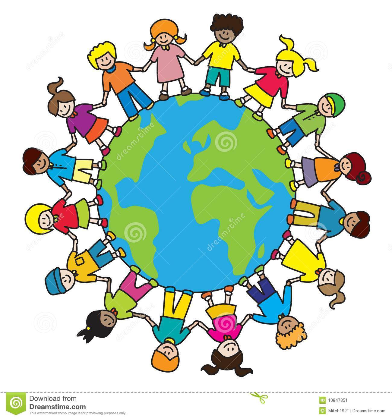 Kids holding hands around the world clipart image library library 47+ Around The World Clipart | ClipartLook image library library