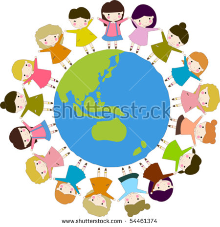 Holding hands around the world clipart image freeuse stock kids of the world holding hands clipart 20 free Cliparts ... image freeuse stock