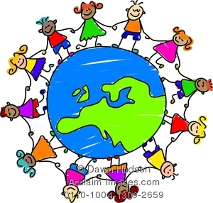 Kids holding hands around the world clipart jpg black and white stock Friends Holding Hands Around The World | Clipart Panda ... jpg black and white stock