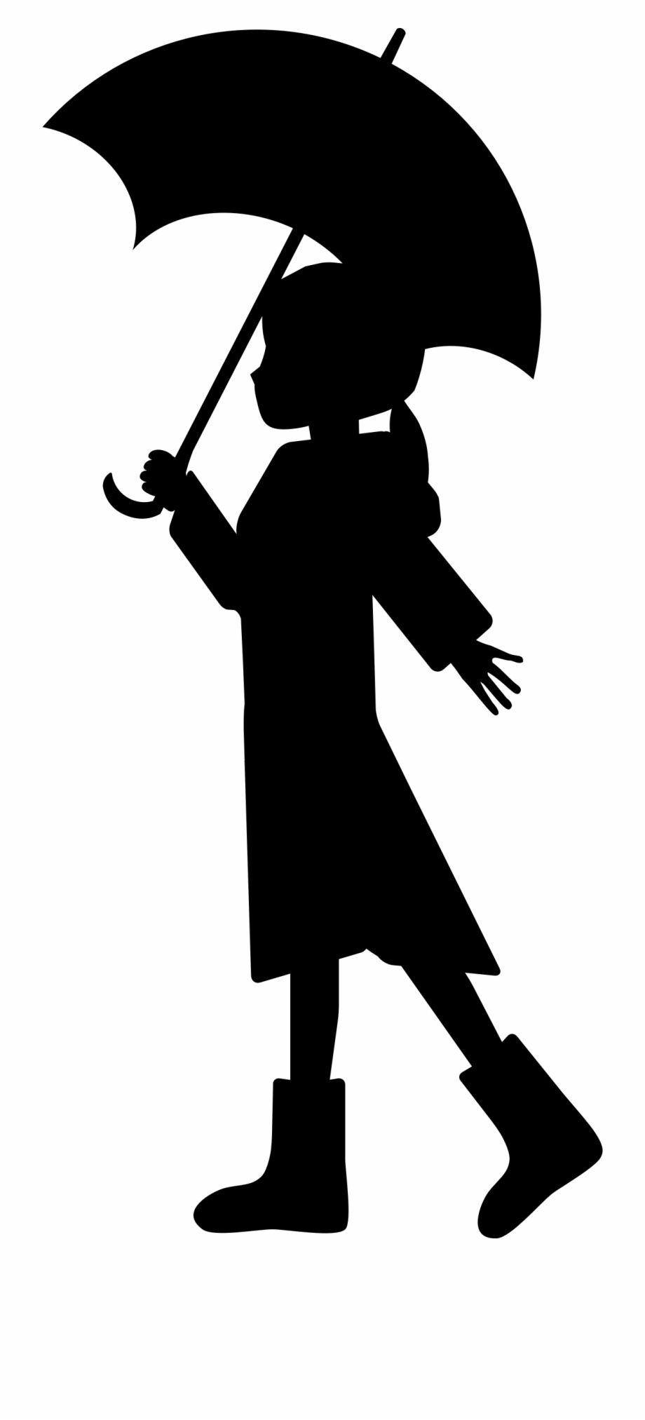 Holdingumbrella clipart clip royalty free Umbrella Girl Silhouette At Getdrawings - Silhouette Of Girl ... clip royalty free