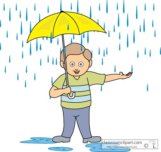 Holdingumbrella clipart graphic black and white stock Boy Holding Umbrella in the Rain » Clipart Station graphic black and white stock