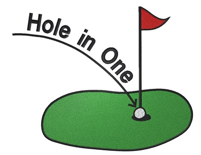 Hole in one clipart images banner freeuse Hole In One Embroidery Design banner freeuse
