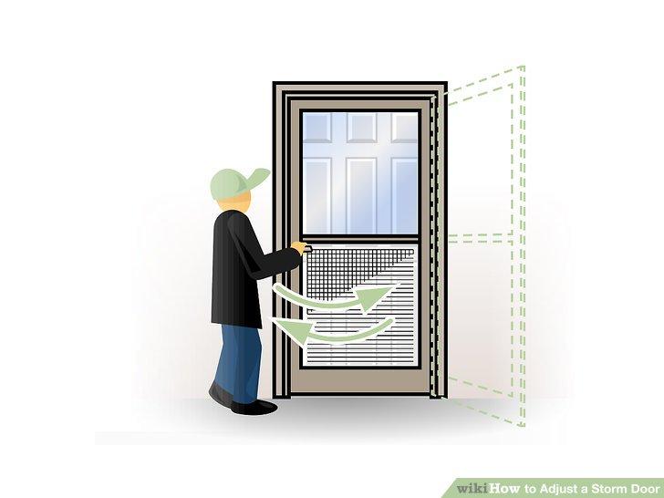 Hole in screen door clipart graphic transparent 3 Ways to Adjust a Storm Door - wikiHow graphic transparent