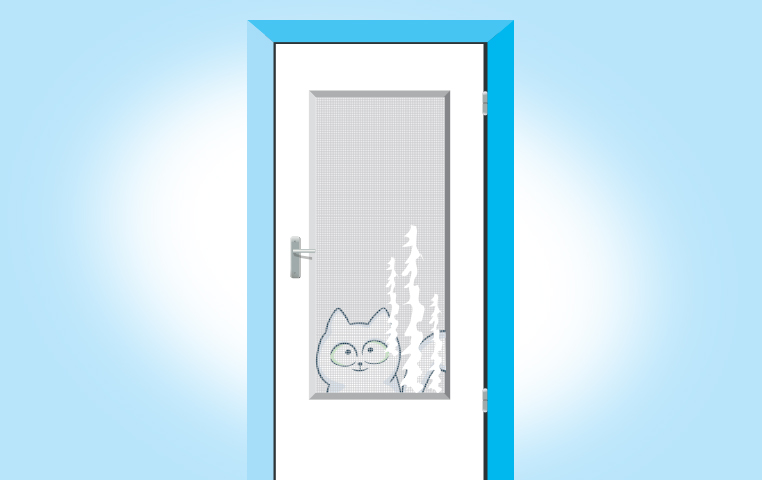 Hole in screen door clipart freeuse library How To Fix Your Screen Door (After The Cat Scratches It ... freeuse library