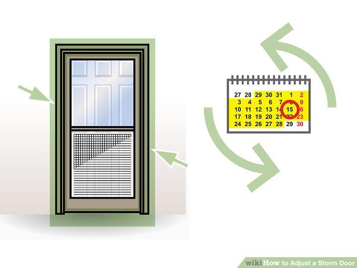 Hole in screen door clipart jpg free download 3 Ways to Adjust a Storm Door - wikiHow jpg free download