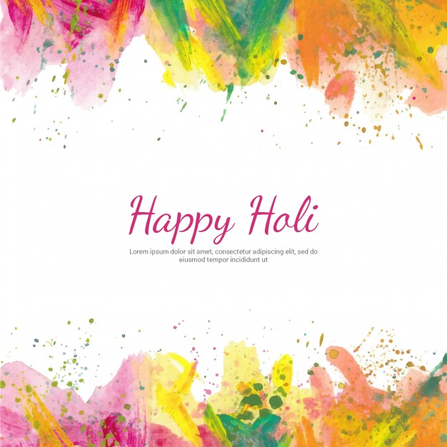 Holi clipart background graphic freeuse Holi background with watercolors Vector | Free Download graphic freeuse