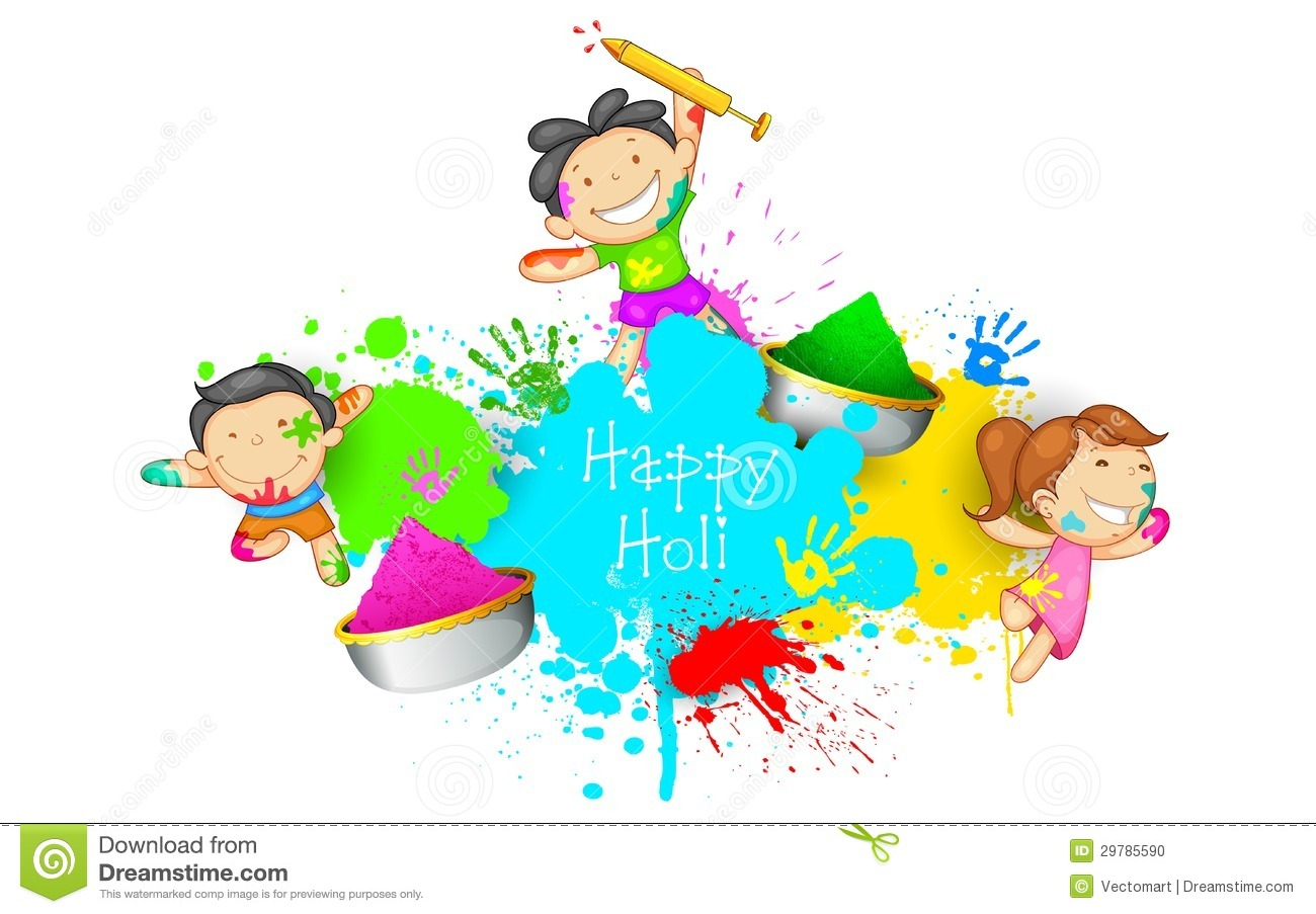 Holi images hd clipart banner freeuse stock Kids playing Holi   Clipart Panda - Free Clipart Images banner freeuse stock