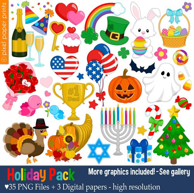 Holiday artwork clipart jpg transparent download Thanksgiving clipart | Etsy jpg transparent download