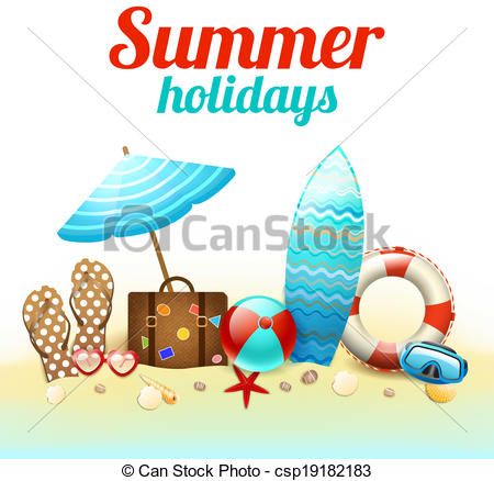 Holiday artwork clipart svg royalty free library Summer holiday images clip art - ClipartFest svg royalty free library