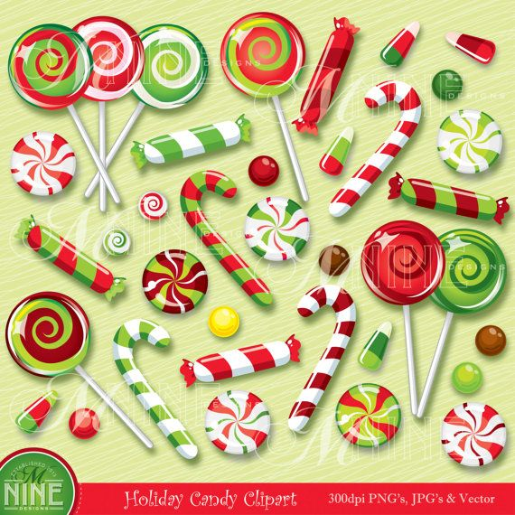 Holiday candy clipart clip art free library HOLIDAY Clip Art CHRISTMAS CANDY Clipart Illustrations ... clip art free library