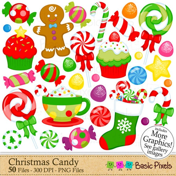 Holiday candy clipart clip transparent CHRISTMAS CANDY Clip Art / Holiday CANDY C #480648 ... clip transparent