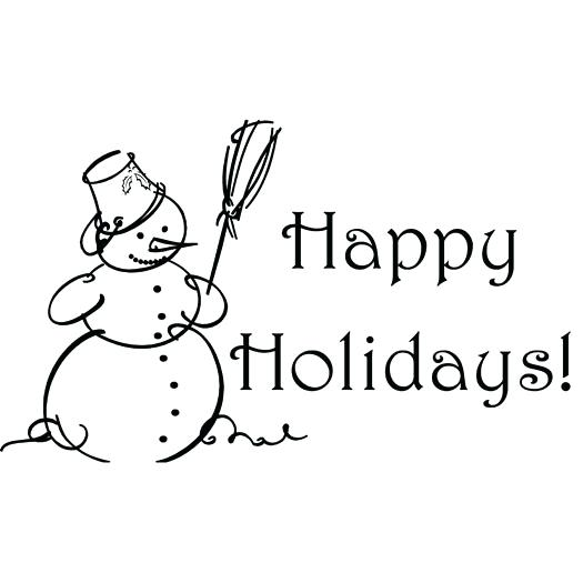 Holiday clipart black and white picture free library Holiday clipart black and white 2 » Clipart Station picture free library