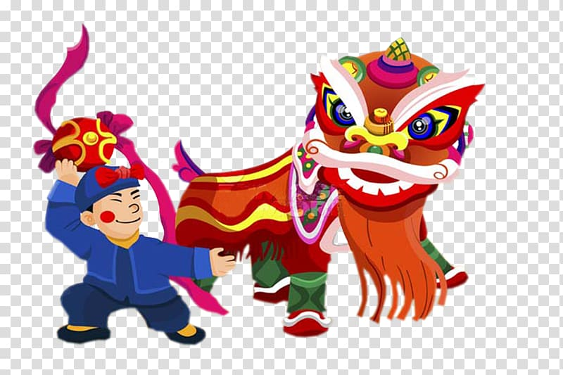 Holiday dancers clipart graphic transparent stock Lion dance Performance Chinese New Year Traditional Chinese ... graphic transparent stock