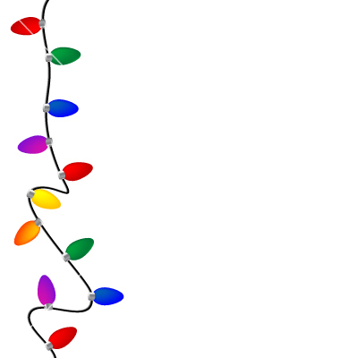 Holiday light border clipart banner free library Free Christmas Lights Border, Download Free Clip Art, Free ... banner free library