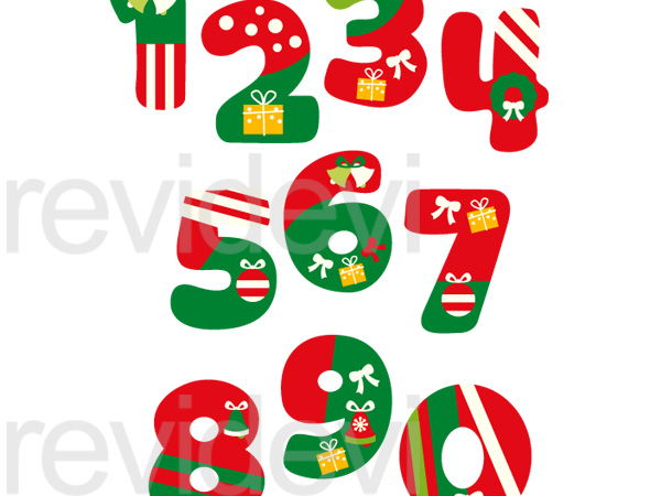 Holiday numbers clipart image transparent library Christmas Numbers Clip Art Graphics image transparent library