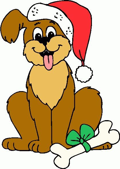 Holiday pet clipart picture black and white stock Holiday dog clipart 2 » Clipart Portal picture black and white stock
