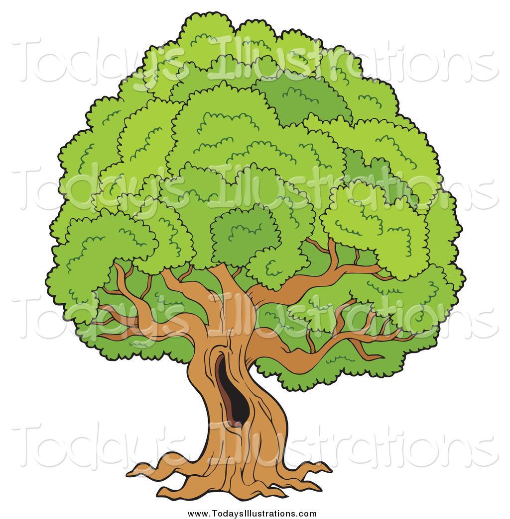 Hollow clipart jpg free download Clipart of a Large Old Tree with a Hollow by visekart - #3703 jpg free download