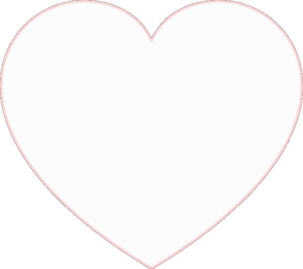 Hollow heart clipart clip stock White-heart Clip Art at Clker.com - vector clip art online, royalty ... clip stock