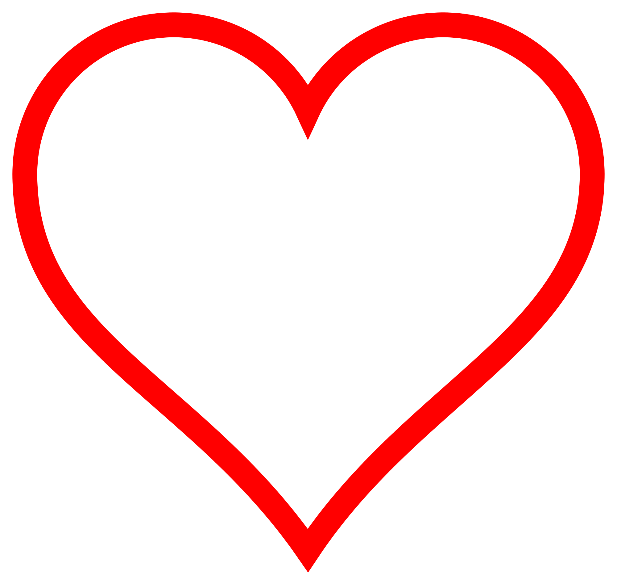 Hollow heart clipart png freeuse stock File:Heart icon red hollow.svg - Wikimedia Commons png freeuse stock