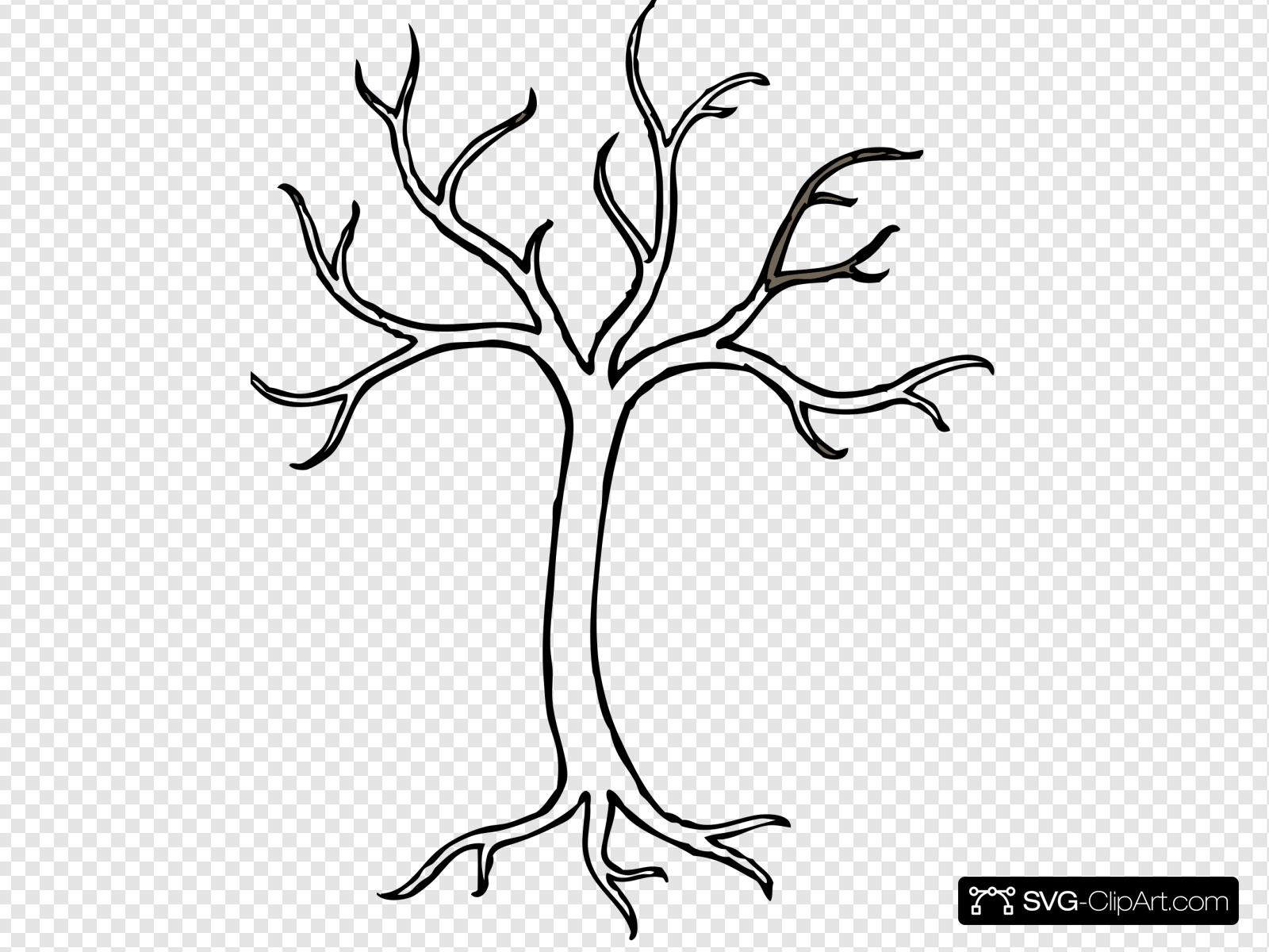 Hollow tree clipart picture black and white Hollow Tree Clip art, Icon and SVG - SVG Clipart picture black and white