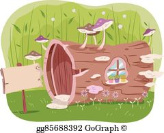 Hollow tree clipart image free stock Hollow Tree Clip Art - Royalty Free - GoGraph image free stock