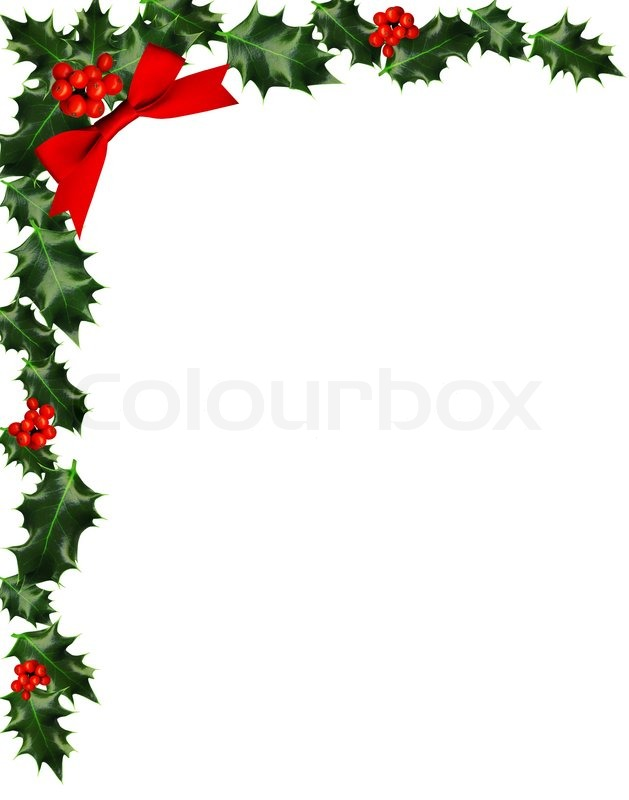 Holly corner clipart image black and white stock Christmas Holly Corner Border Clip Art free image image black and white stock