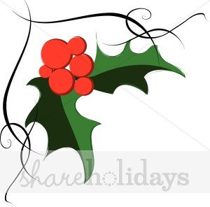 Holly corner clipart vector freeuse download Holly corner clipart 2 » Clipart Portal vector freeuse download