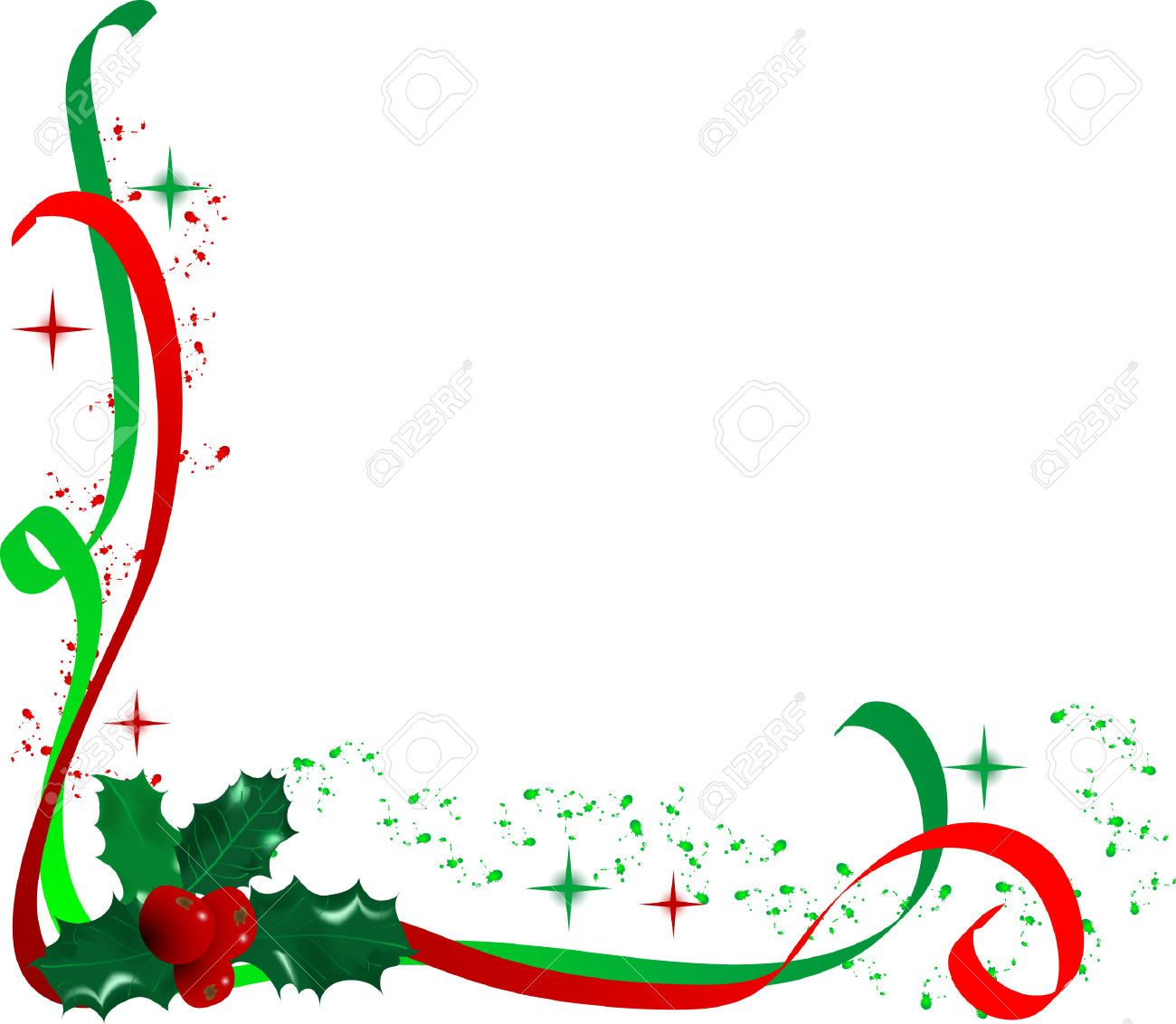 Holly corner clipart image library download Christmas Holly Corner Border Clip Art | Holly Corner ... image library download