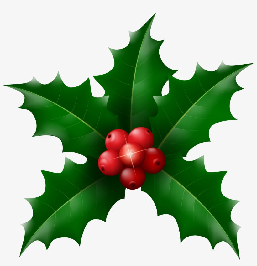 Holly leaf clipart picture black and white download Holly Leaf Clipart At Getdrawings - Free Transparent PNG ... picture black and white download