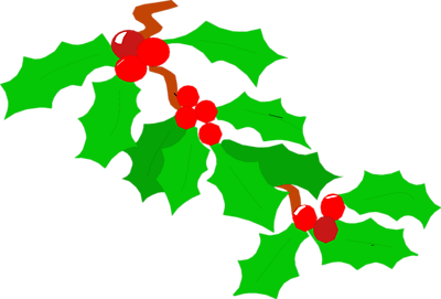 Holly leaves and berries clipart banner black and white stock Free Images Of Holly Leaves, Download Free Clip Art, Free ... banner black and white stock