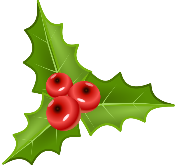Holly tree clipart svg transparent stock Holly With Berries Clip Art at Clker.com - vector clip art online ... svg transparent stock