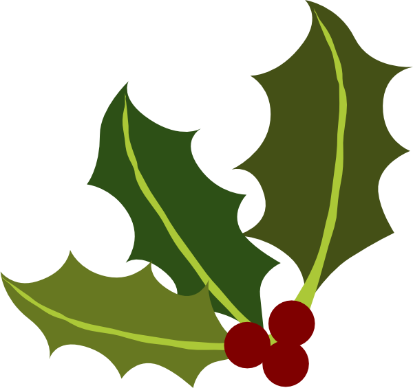 Holly tree clipart svg black and white stock Holly Leaf Corner Clip Art at Clker.com - vector clip art online ... svg black and white stock