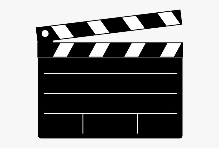 Hollywood clipart black and white png library Hollywood Camera Clipart - Film Clapper Clipart #1310272 ... png library