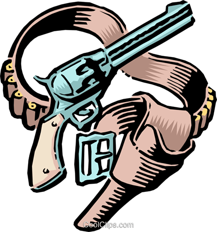 Holster clipart jpg royalty free download Old West Guns and holster Royalty Free Vector Clip Art ... jpg royalty free download