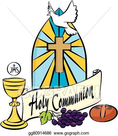 Holy communion clipart jpg royalty free download Vector Art - My first holy communion. EPS clipart gg80914686 ... jpg royalty free download