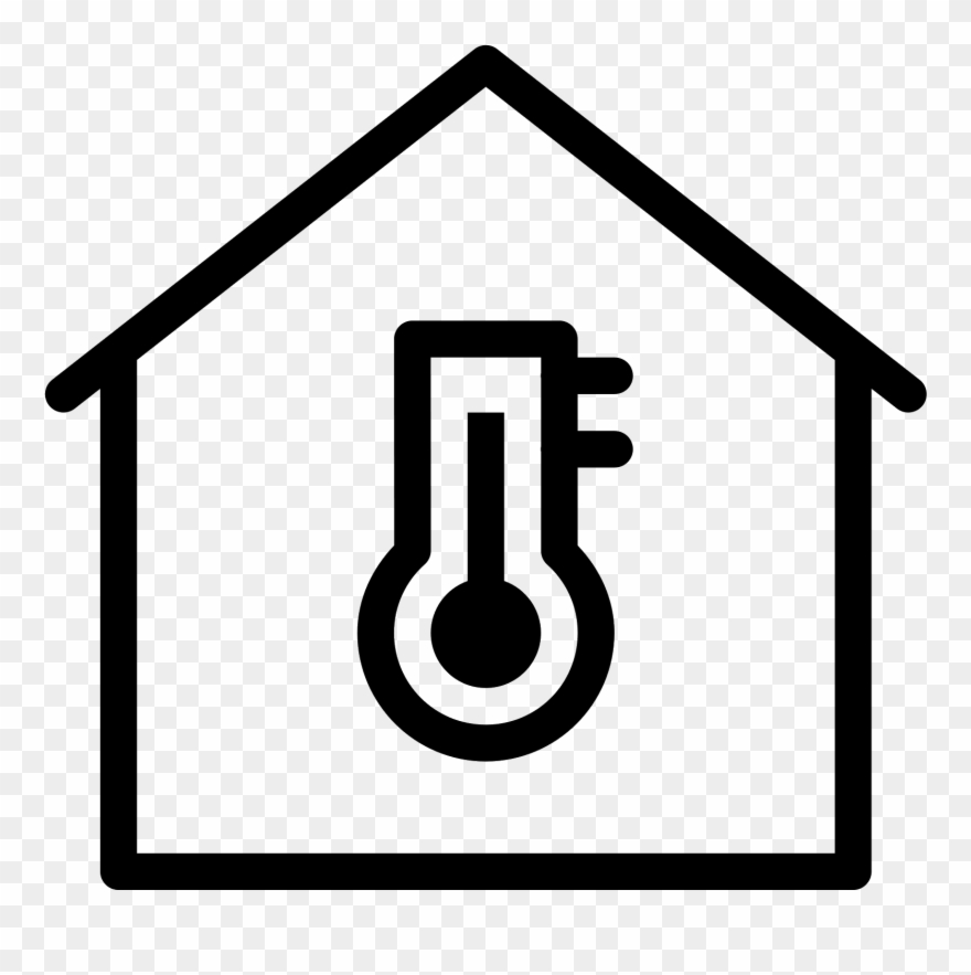 Home automation icons clipart vector black and white download Home Icons Temperature - Home Automation Icon Clipart ... vector black and white download