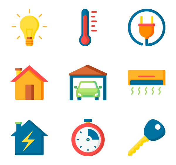 Home automation icons clipart graphic royalty free stock 41 home automation icon packs - Vector icon packs - SVG, PSD ... graphic royalty free stock