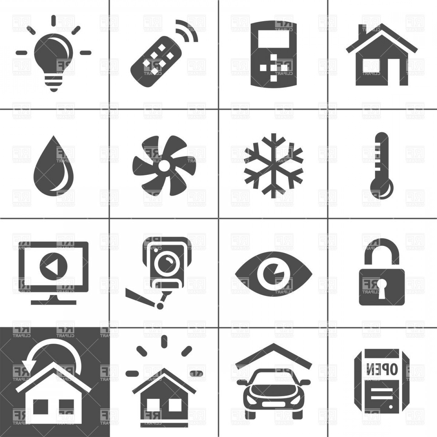 Home automation icons clipart freeuse stock Smart Home And Smart House Icons Home Automation Control ... freeuse stock