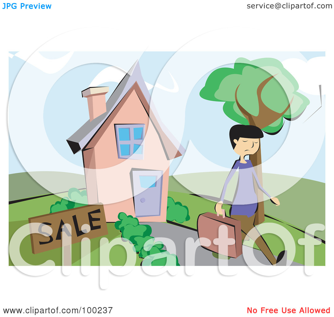 Home away from home clipart stock Royalty-Free (RF) Clipart Illustration of a Male Realtor Walking ... stock