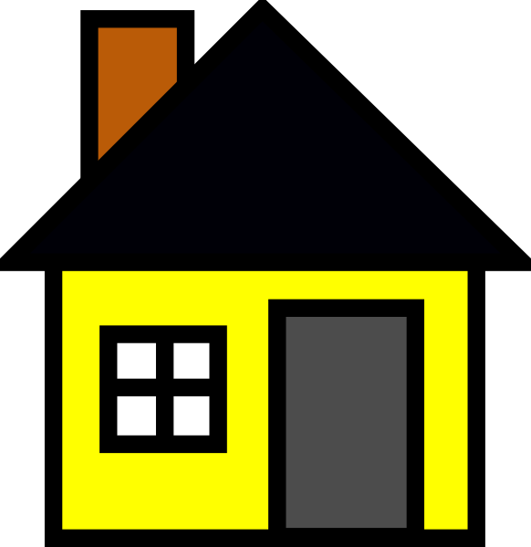 Home cliparts yellow clipart black and white download Yellow House 3 Clip Art at Clker.com - vector clip art online ... clipart black and white download