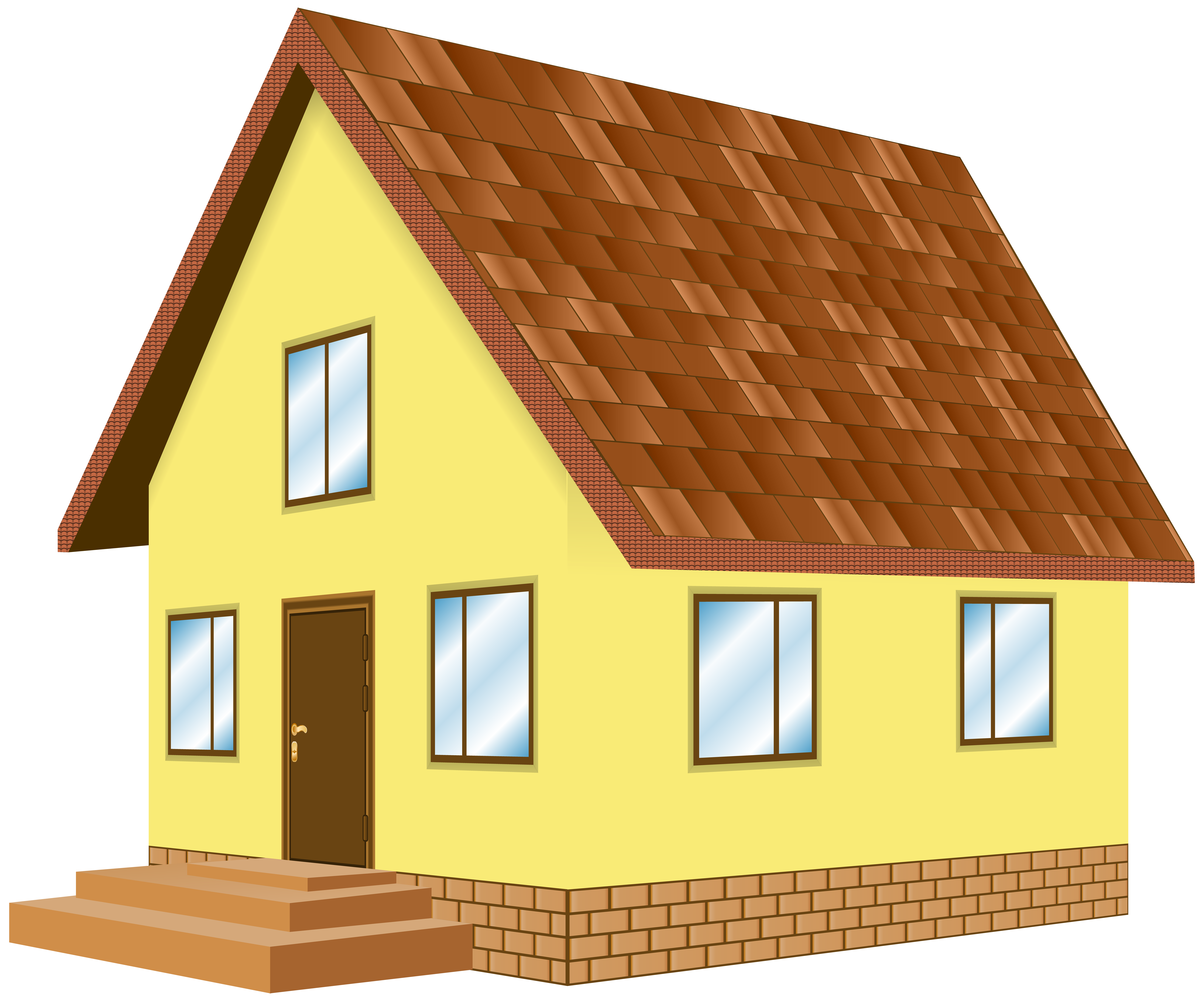 Home cliparts yellow png library House Yellow PNG Clip Art - Best WEB Clipart png library